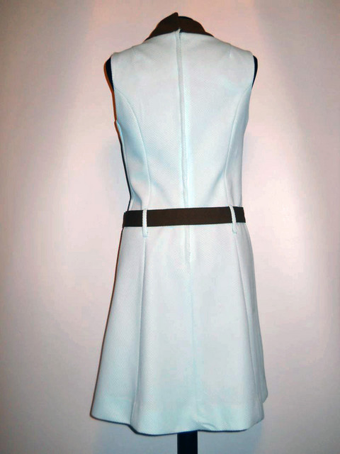 Rochie mod bleu  si maro anii '60