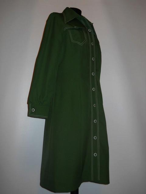 """Rochie verde """"Neiman Marcus"""" anii '70"""
