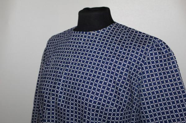 Rochie vintage carouri albastre cu alb anii '50