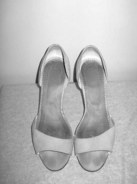Sandale din piele de antilopa gri repro anii '70