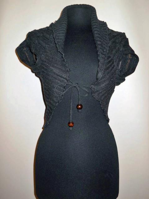 Bolero din tricot gri repro anii '50