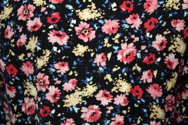 Bomber print floral repro anii '80