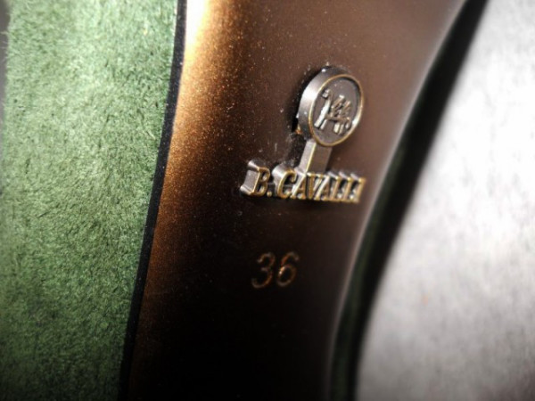"Botine verzi ""B. Cavalli"" repro anii '70"