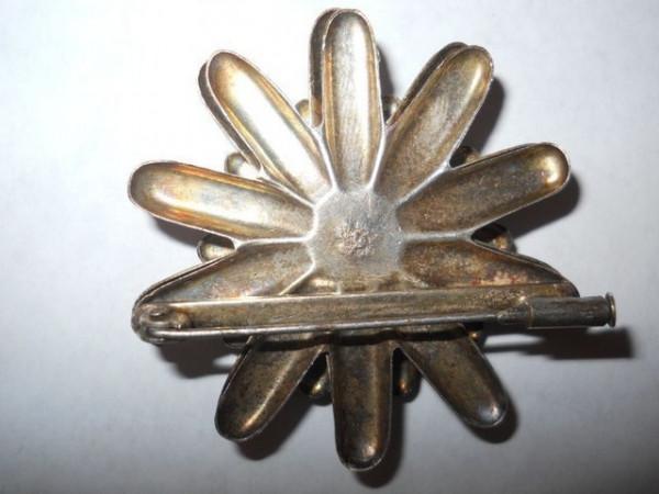 Brosa floare din argint perioada victoriana cca. 1890