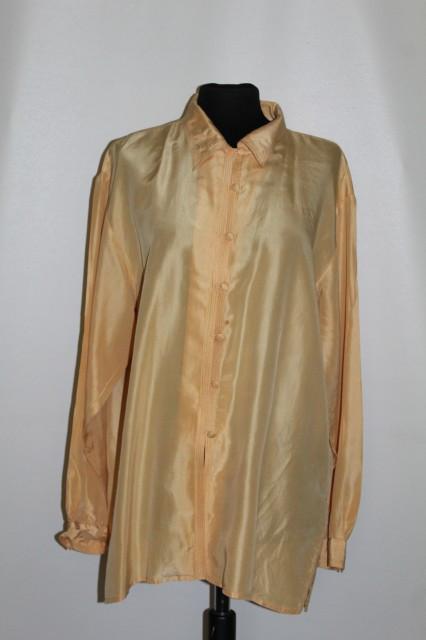 Cămașă din mătase naturală galbenă anii 90