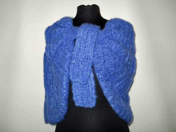 Capa vintage din mohair albastru anii '60