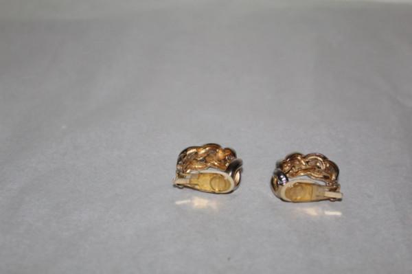 Cercei tip creole aurii împletiți anii 70