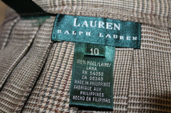 Fustă carouri plisată Ralph Lauren