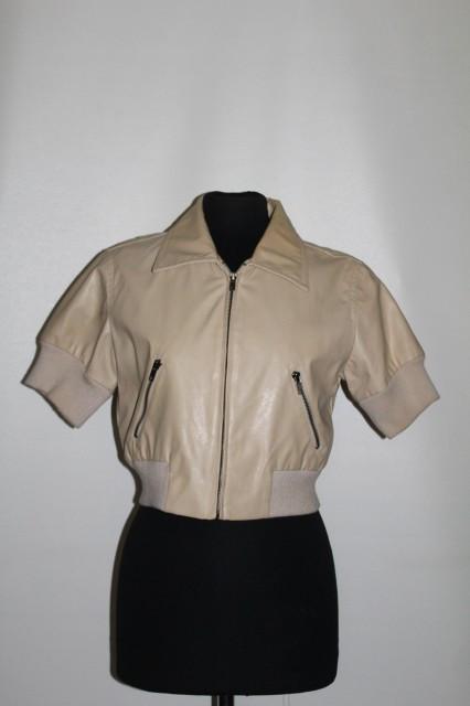 Jacheta din piele bej anii '90
