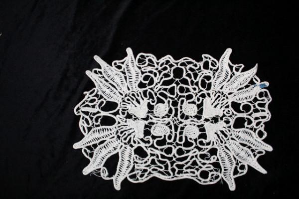 Mileu vintage grej crochet anii 60