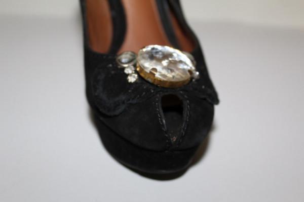 Peep toe cristale repro anii 70