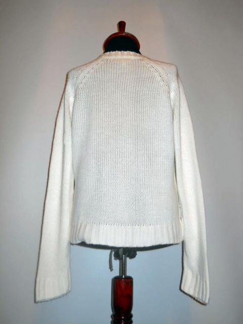 Pulover retro alb anii '80
