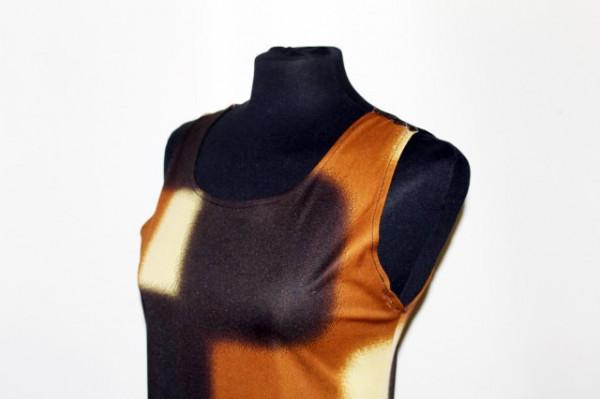 Rochie print geometric maro anii '90
