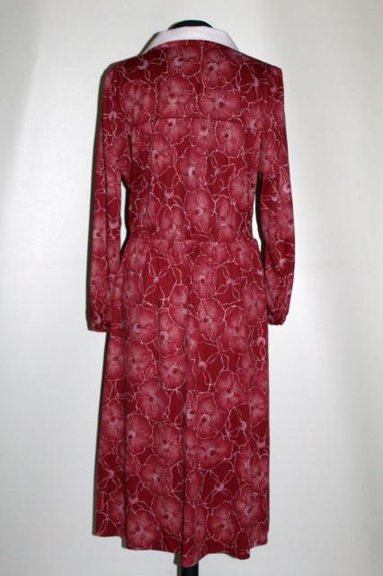 Rochie vișinie Diolen anii 70