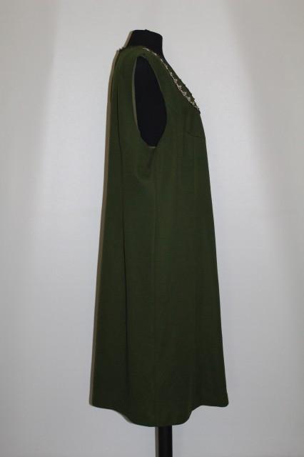 Sarafan oliv din jerse anii '70