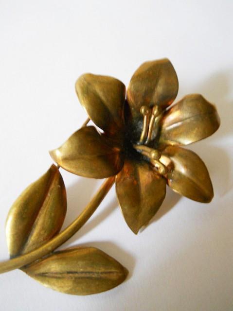 Brosa antique floare alama perioada edwardiana cca. 1900