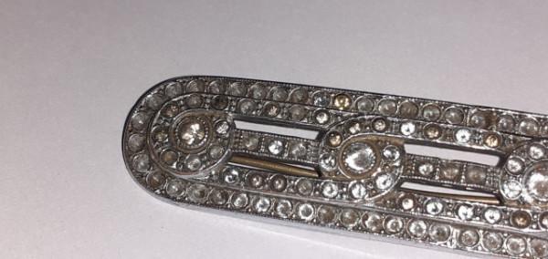 Broșă baretă Art Deco anii 20
