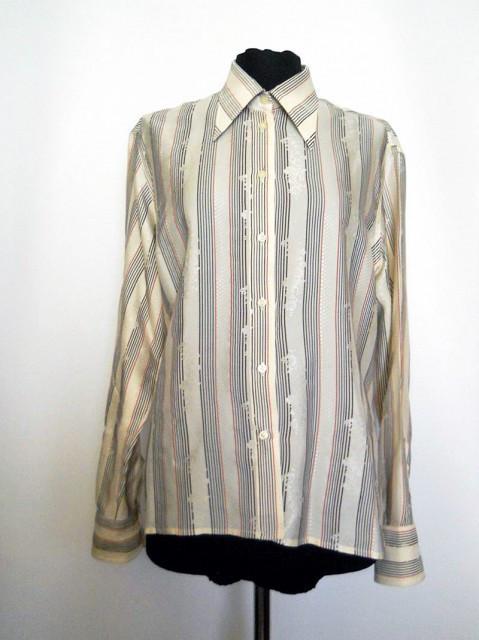 Camasa vintage dungi si flori anii '70