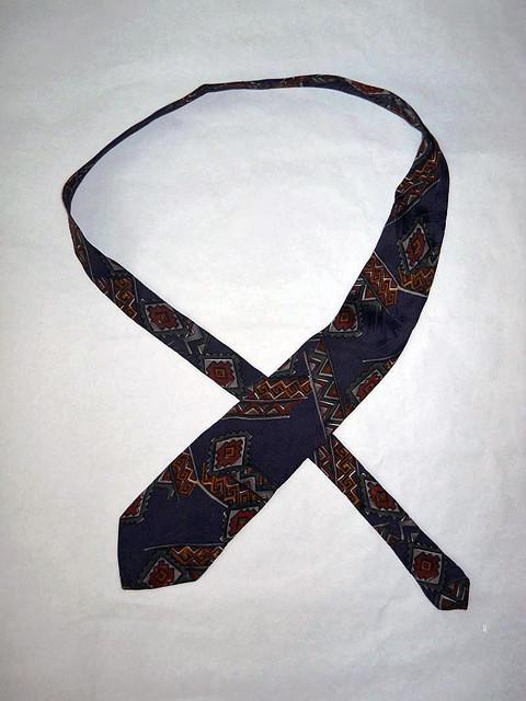 """Cravata retro print popular stilizat """"Krizia"""" anii '80"""