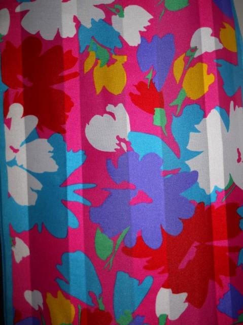 Esarfa vintage print floral anii '70