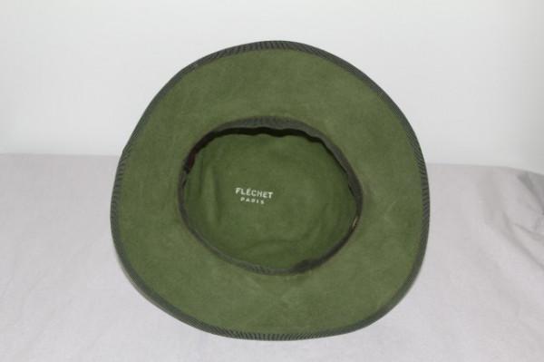 """Palarie vintage verde """"Flechet Paris"""" anii '70"""