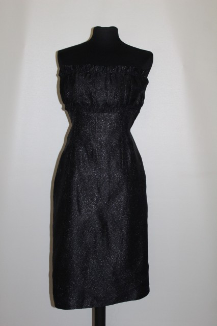 Rochie de ocazie din brocart bust plisat anii '60