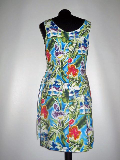 Rochie stil tropical anii '80
