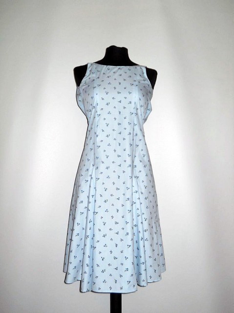 Rochie vintage bleu in clini anii '70