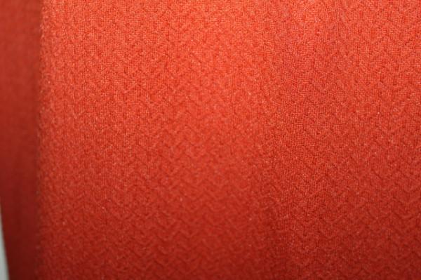 Rochie vintage cărămizie guler blană anii 60