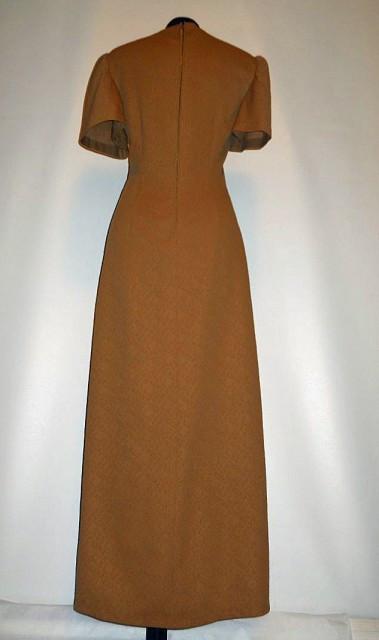 Rochie vintage maxi maro scortisoara anii '60