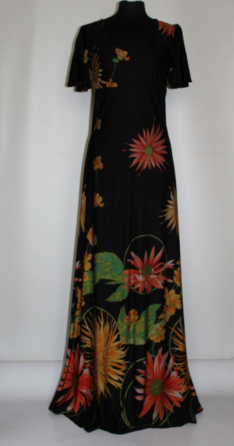 Rochie vintage print floral mare anii 70