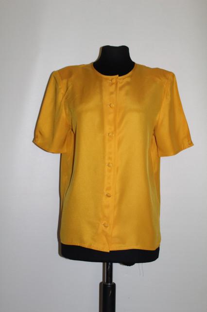 Bluză galbenă Pierre Balmain anii 80
