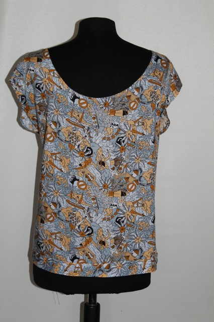 Bluza print hawaian anii '80