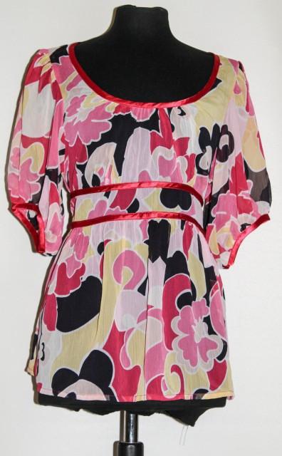 Bluza roz model abstract repro anii '70