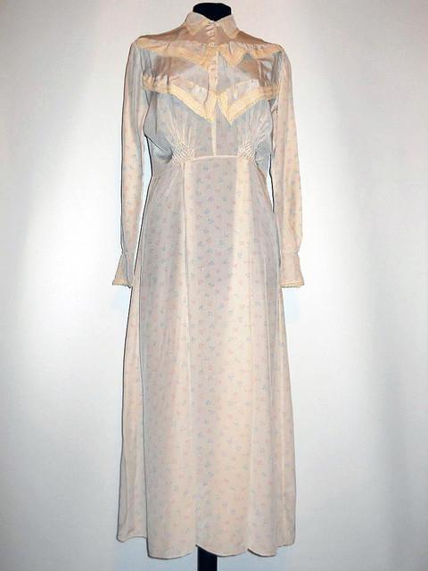 Camasa de noapte vintage flori pastel anii '30