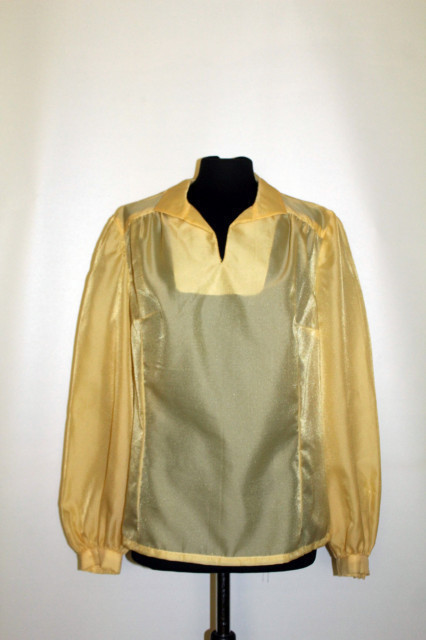 Cămașă din organza galbenă anii 70 - 80