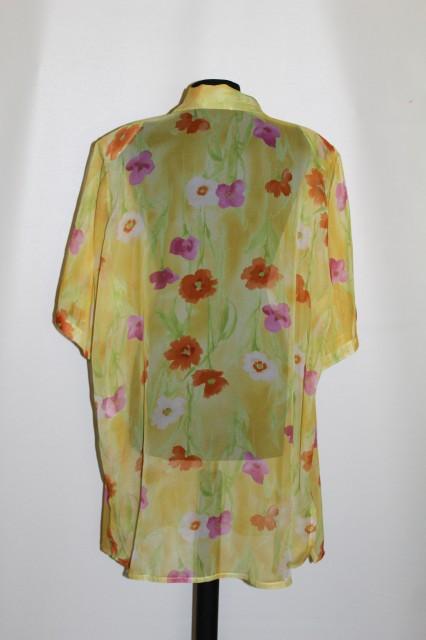 Camasa din voal galben print floral anii '80
