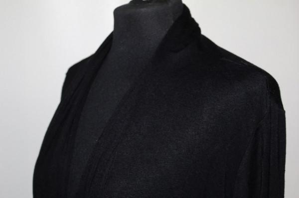Cardigan din jerse negru