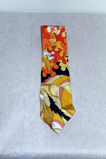 Cravata print psihedelic Emilio Pucci