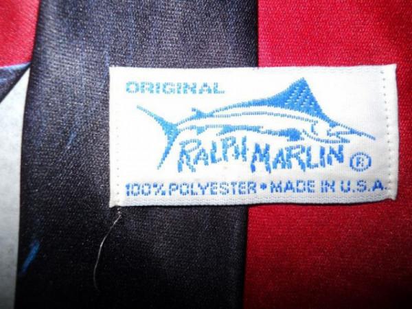 "Cravata retro vacute ""Ralph Marlin"" anii '80 (1986)"