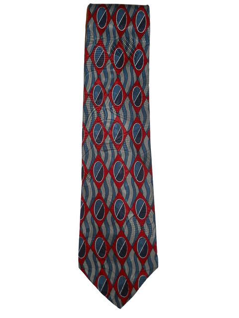 Cravata vintage print geometric anii '70