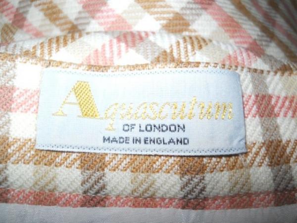 """Fusta carouri pastel """"Aquascutum of London"""" anii '70"""