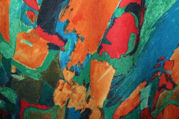 Fusta print pictural anii '80