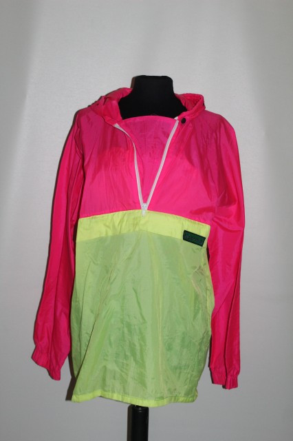 Jacheta de ploaie neon anii '90