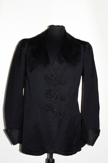 Jacheta neagra antique perioada edwardiana cca. 1900