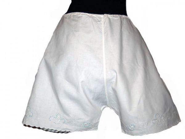 Pantalonasi cu broderie bleu perioada edwardiana cca. 1900