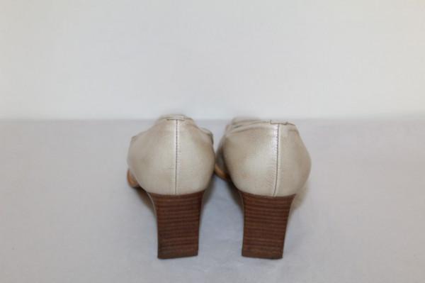 Pantofi bej aspect marmorat repro anii '70