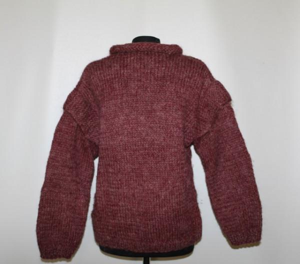 Pulover gros rosu Marsala anii '70