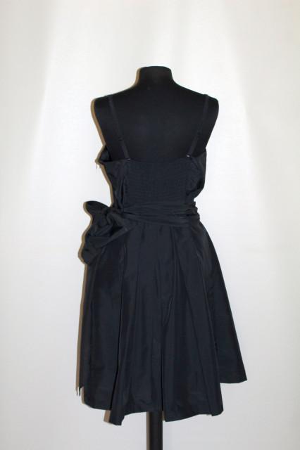 Rochie de ocazie din tafta neagră repro anii 50