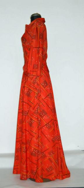 Rochie portocalie print grafic anii '30